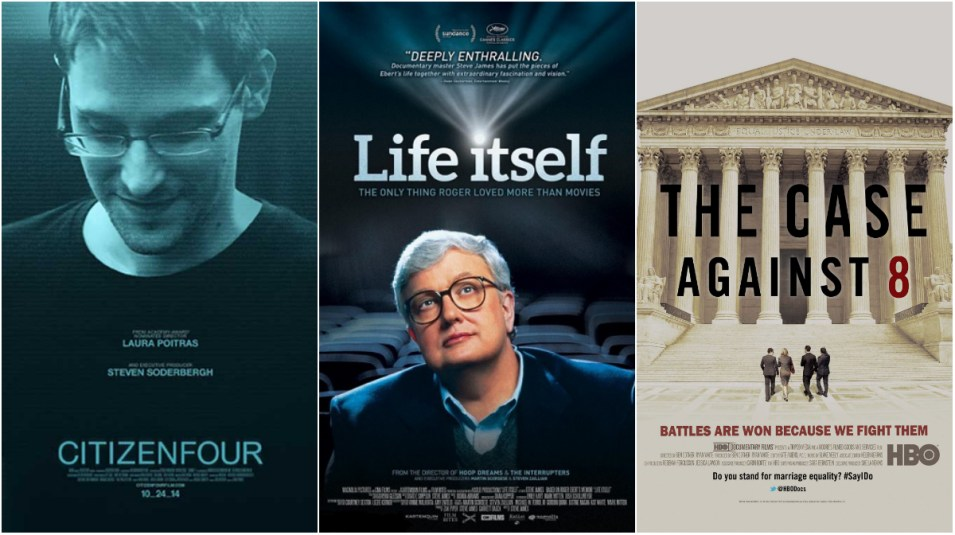 Citizenfour, Life Itself, The Case Against 8