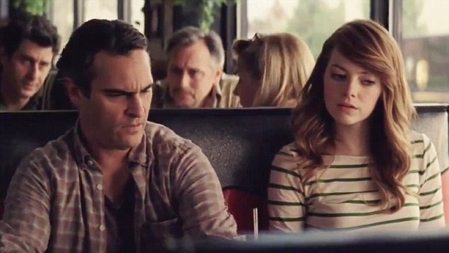 Joaquin Phoenix and Emma Stone mull over a serious situation in Woody Allen's 'Irrational Man'