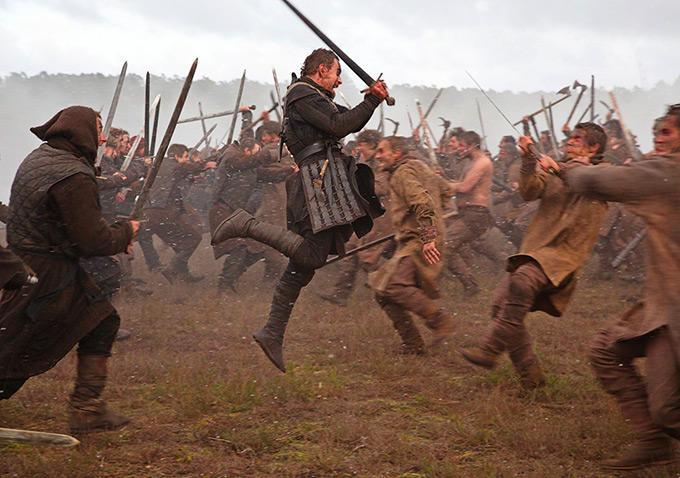 Michael Fassbender is ready to take on his enemies in 'Macbeth'