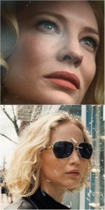 Cate Blanchett, Carol; Jennifer Lawrence, Joy