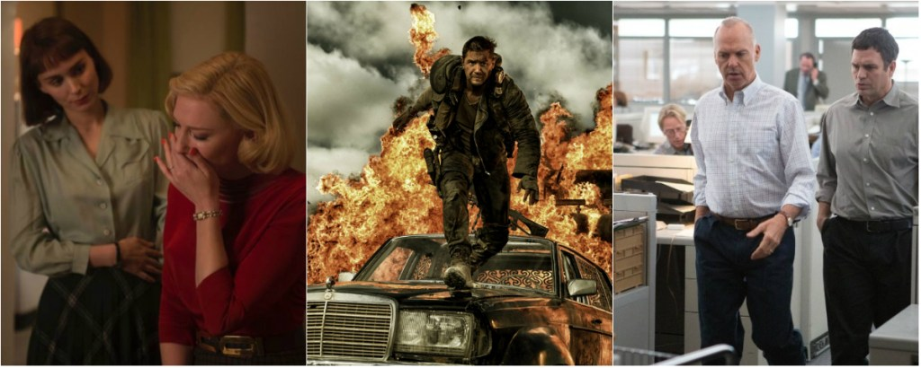 Carol, Mad Max: Fury Road and Spotlight