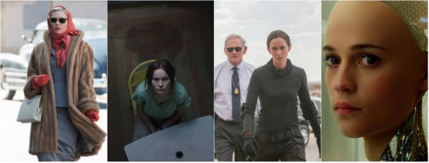 PGA Noms: Women Out (Carol, Room); Women In (Sicario, Ex Machina)
