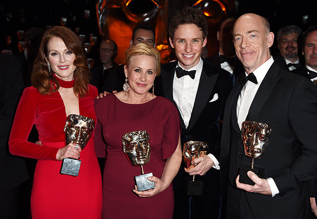 Last year's BAFTA acting winners, all of whom went on to win the Oscar