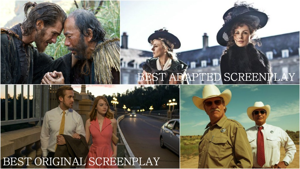 2017-oscar-predictions-september-adapted-screenplay-original-screenplay-silence-love-and-friendship-la-la-land-hell-or-high-water