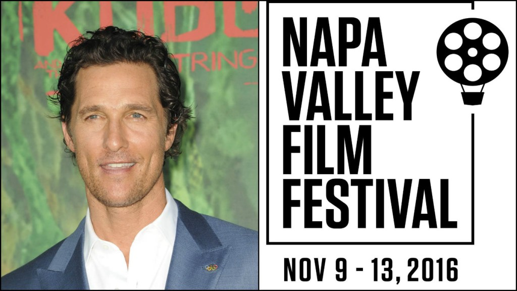 Matthew McConaughey is set for a tribute at the 2016 Napa Valley Film Festival