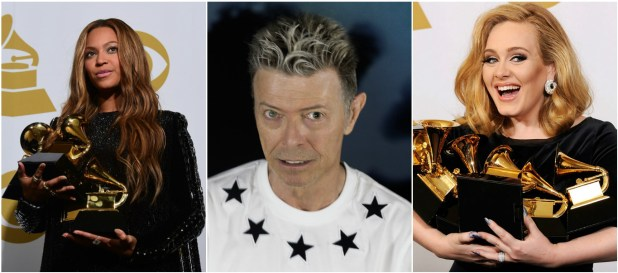 Beyoncé and Adele edge out David Bowie at this year's Grammy nominations