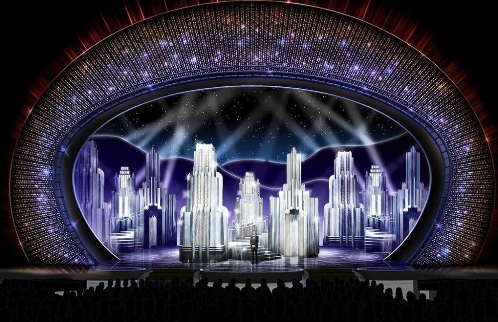 Swarovski x 2017 Oscars - Deco Towers