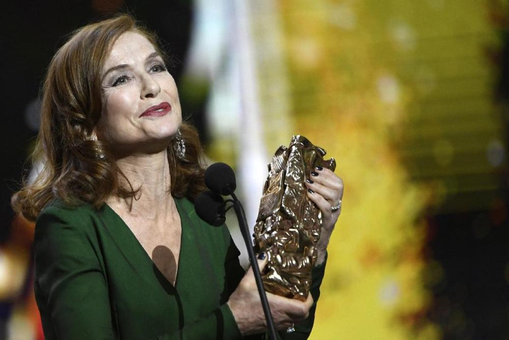 Isabelle Huppert wins her second César Award for Best Actress, this time for 'Elle'