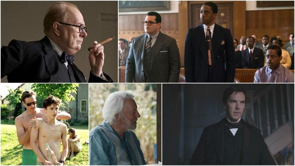 Best Actor top contenders: Gary Oldman, Chadwick Boseman, Timothée Chalamet, Donald Sutherland and Benedict Cumberbatch