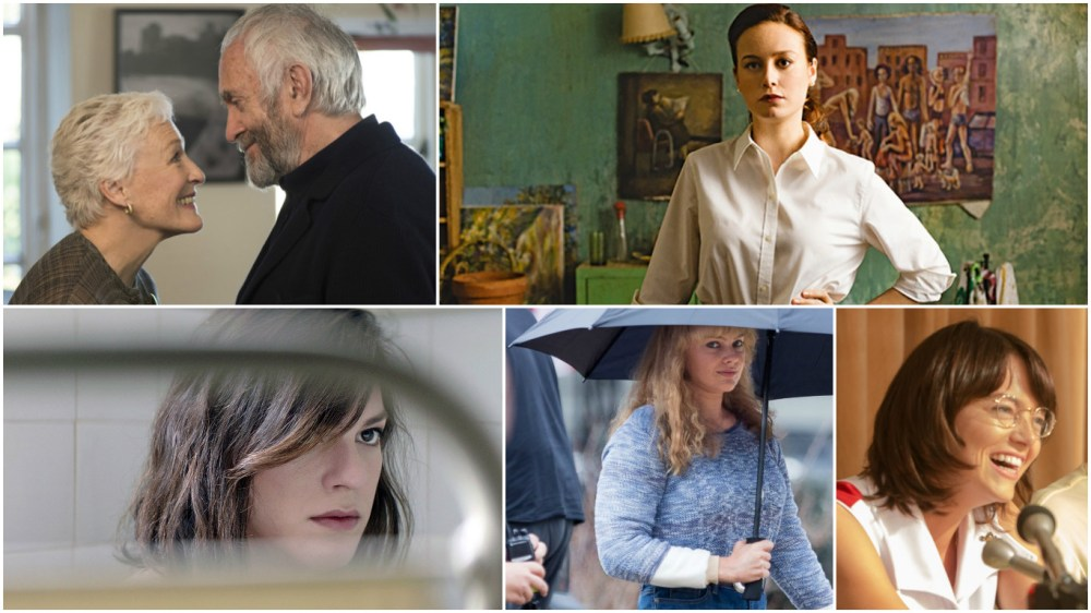 Glenn Close, Brie Larson, Daniela Vega, Margot Robbie and Emma Stone headline first 2018 Best Actress contenders