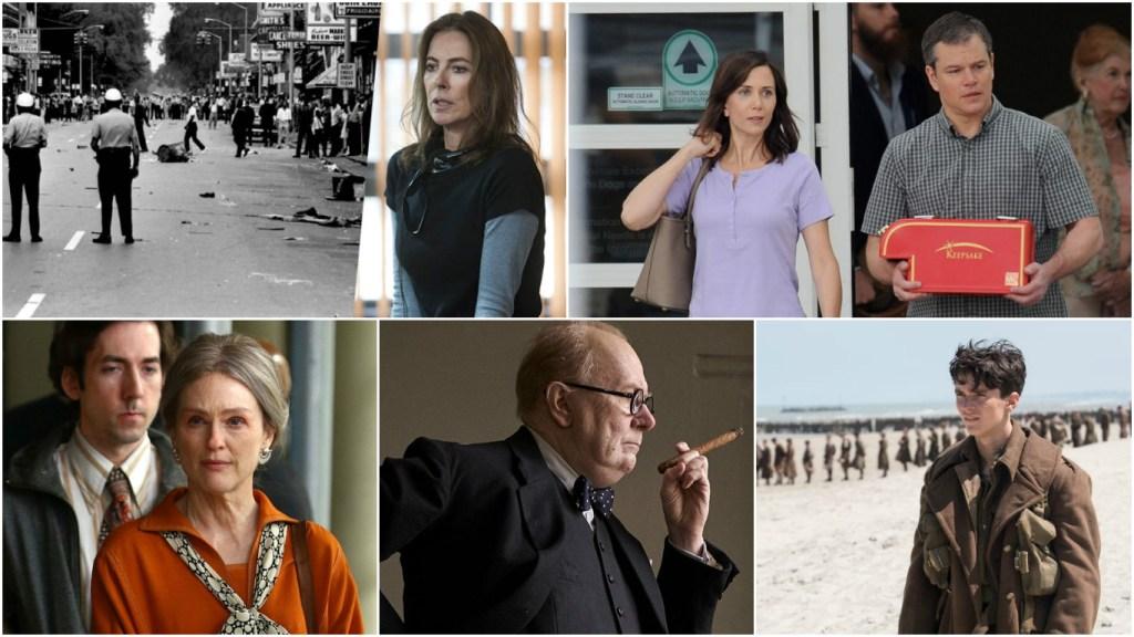 Top: Untitled Kathryn Bigelow Detroit Riots Project, Downsizing Bottom: Wonderstruck, Darkest Hour, Dunkirk