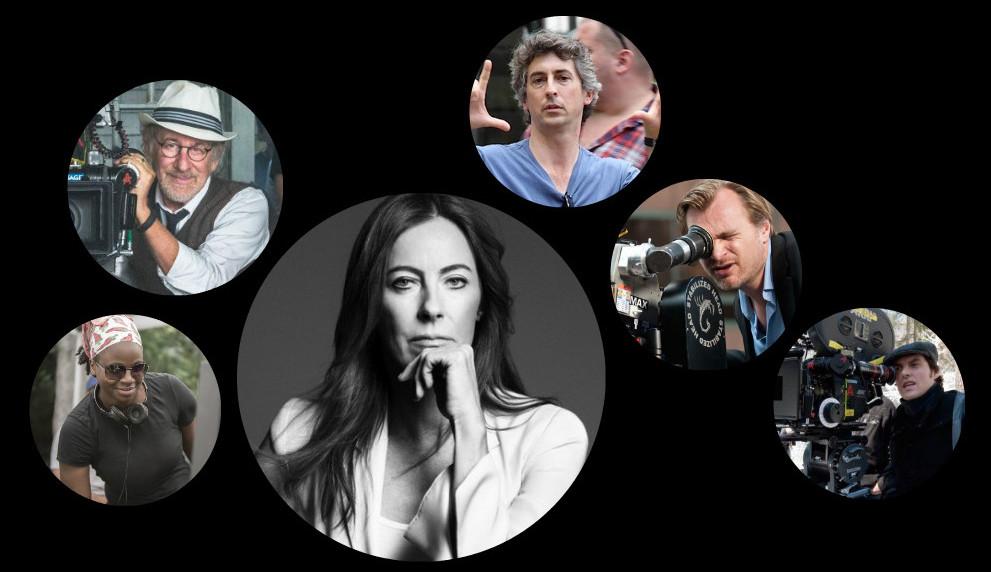 Top: Steven Spielberg, Alexander Payne Bottom: Dee Rees, Kathryn Bigelow, Christopher Nolan, Joe Wright