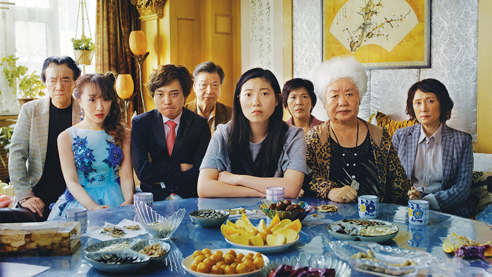 Awkwafina and fam in The Farewell (A24)