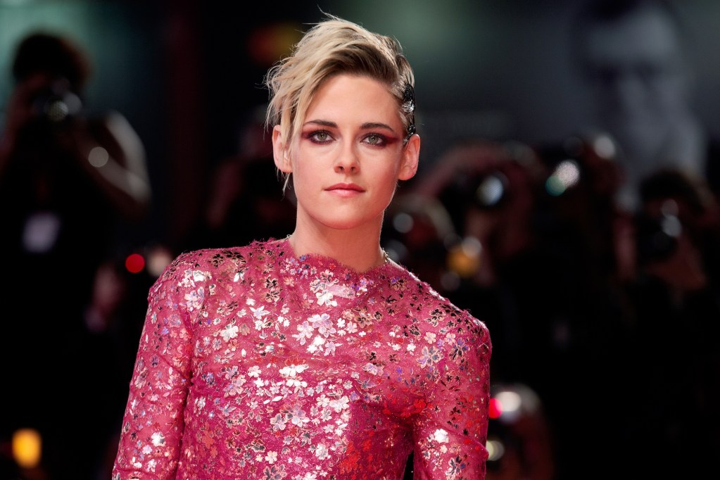 """VENICE, ITALY - AUGUST 30: Kristen Stewart attends the premiere of the movie """"Seberg"""" during the 76th Venice Film Festival on August 30, 2019 in Venice, Italy."""