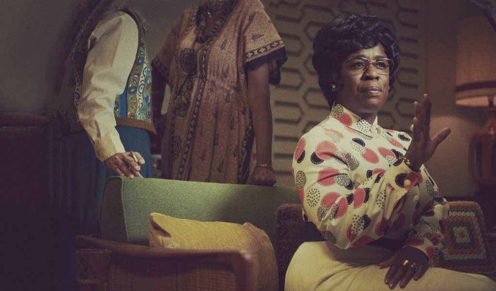 MRS. AMERICA -- Pictured: Uzo Aduba as Shirley Chisholm. CR: Pari Dukovic/FX