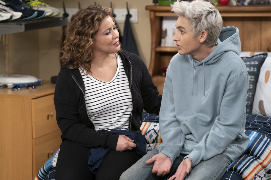 """(L-R): Justina Machado as Penelope and Marcel Ruiz as Alex, in ONE DAY AT A TIME, """"Perfect"""".  Photo Credit: Nicole Wilder/POP TV."""