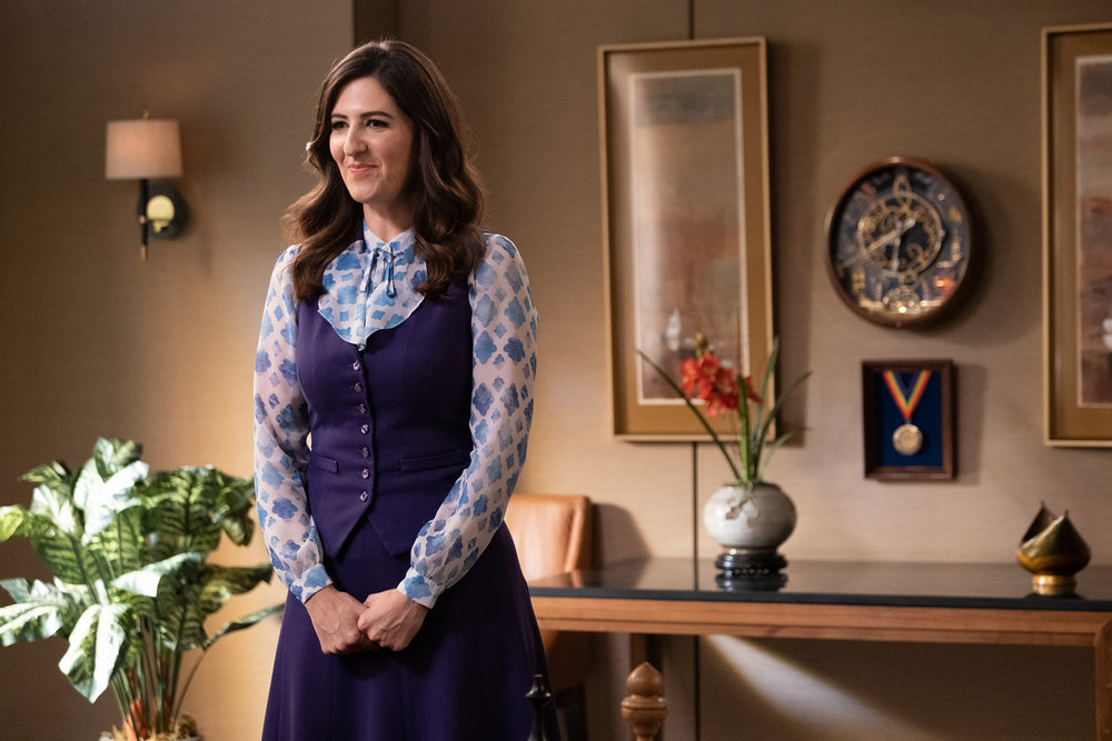 "THE GOOD PLACE -- ""Whenever You're Ready"" Episode 413/414 -- Pictured: D'Arcy Carden as Janet  -- (Photo by: Colleen Hayes/NBC)"