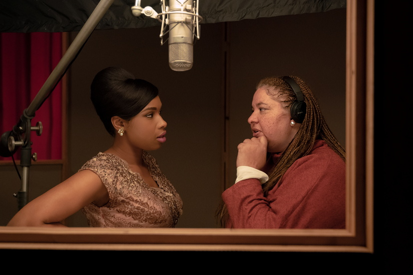 R_07374_RC  Actor Jennifer Hudson and director Liesl Tommy on the set of  RESPECT   A Metro Goldwyn Mayer Pictures film  Photo credit: Quantrell D. Colbert