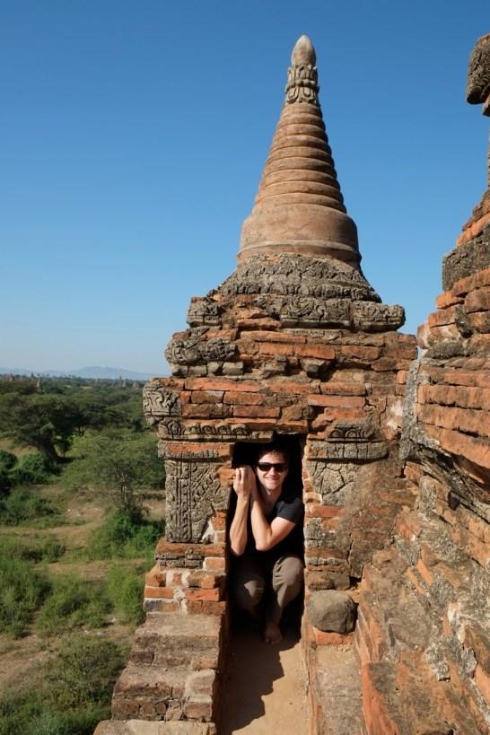 Aureo in a pagoda