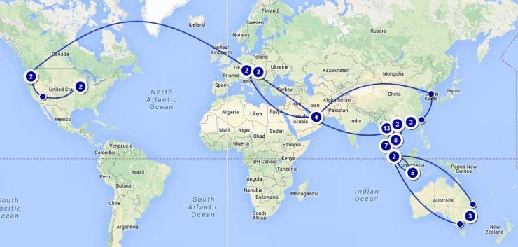 Total Trip Map