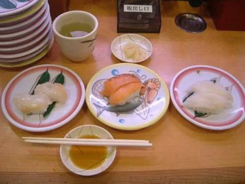 つぶ貝、焼鮭、かれい