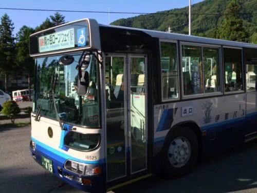 駒ヶ岳ロープウェイ駅行きのバス