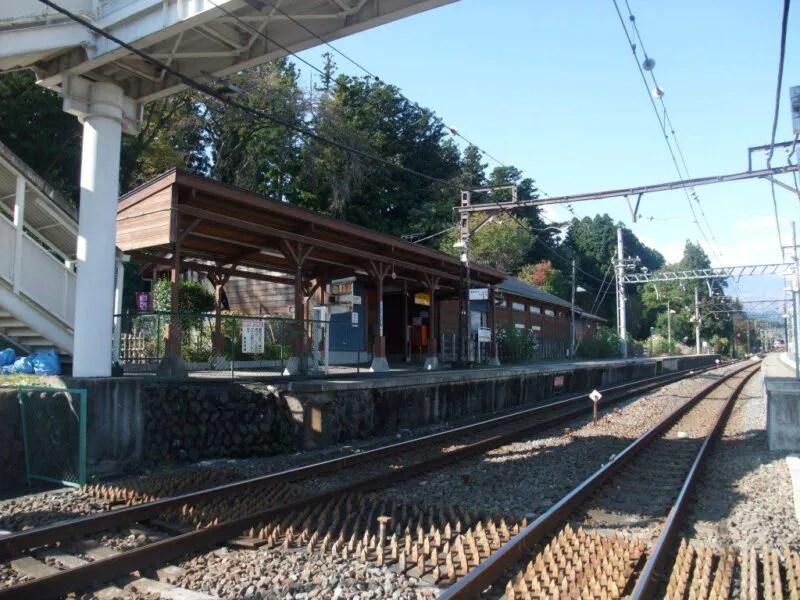 上今市駅のホーム