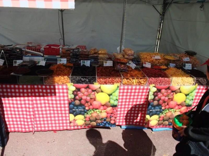ドライフルーツを売る店