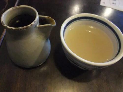 蕎麦湯とつゆ