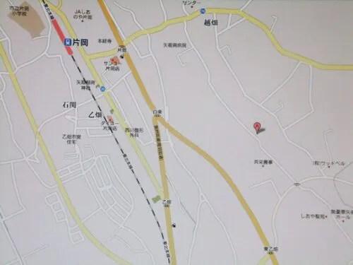 Googleマップを写真撮影した上で現地へ