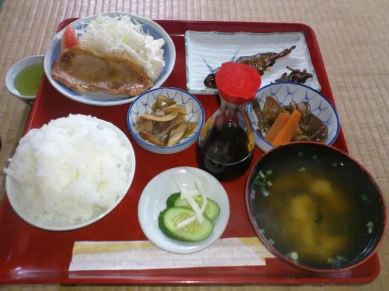 三斗小屋温泉煙草屋旅館の夕食