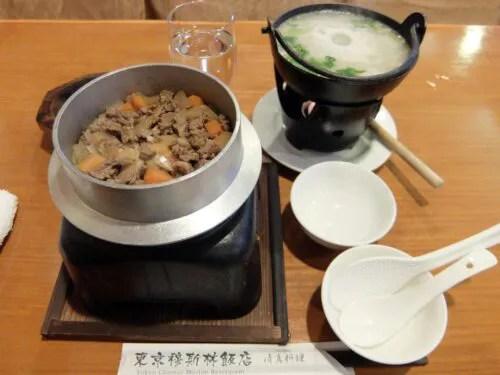 釜飯とスープ