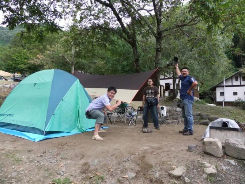 テントサイト構築完了