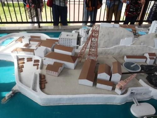 軍艦島ミニチュア模型3
