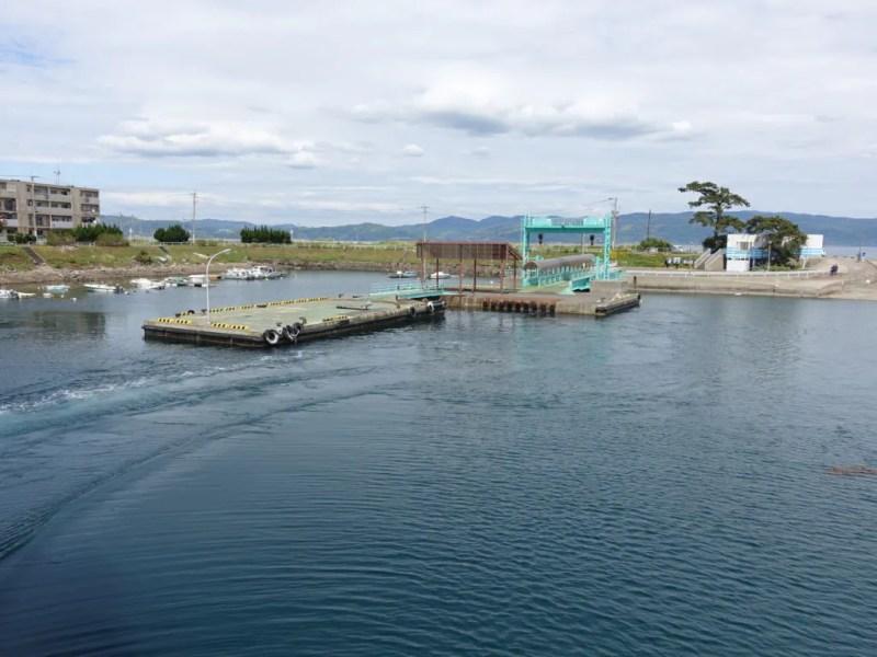 池島港を出発