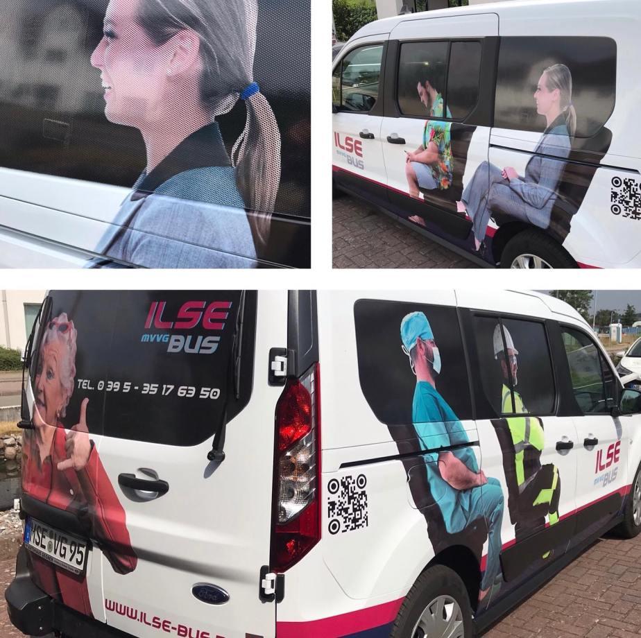 Beklebung Ilse-Bus MVVG Demmin