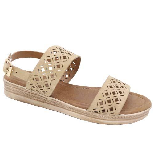 Flat Sandals Leisure Shoe Camel