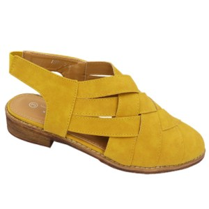 Ms Milano SlingBack Mustard summer must-have A691-2