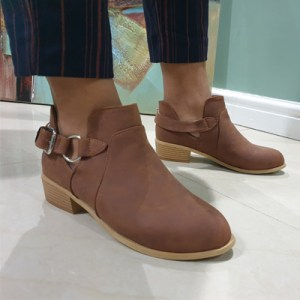 MODA SCAPA OPEN SIDE LEATHER LOOK ANKLE BOOT WHOLESALE SOUTH AFRICA