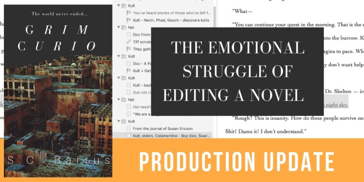 The emotional struggle of editing a novel - header