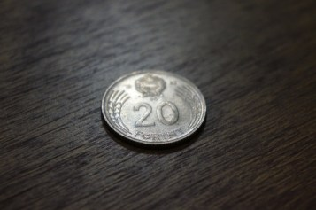 Back of 20 Forint coin