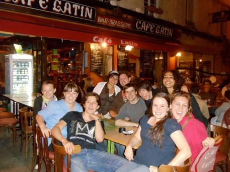 The whole gang at Café Latin.