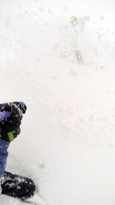 Petra spraying me in powder