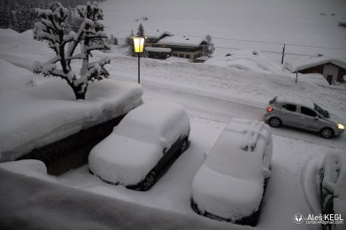 When we woke up there was a lot of new snow
