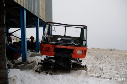 Leftovers of a Pistenbully
