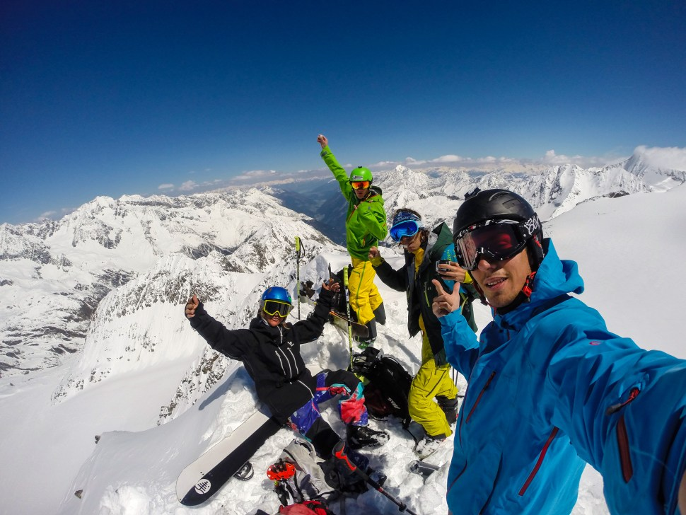 We had made it to the top. Powder avengers assembled.