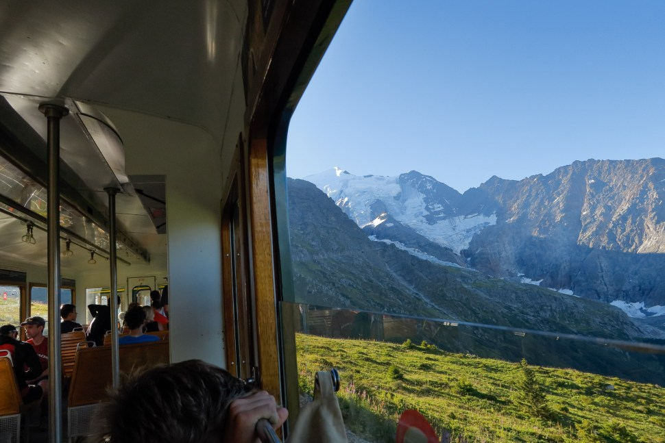 We had quite a view from the Tramway de Mont Blanc.