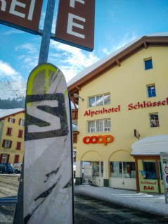 Salomon represented in Andermatt.