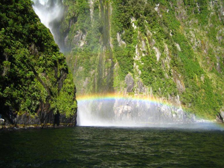Neuseeland Rundreise Wasserfall