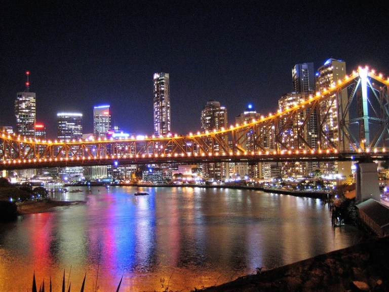 Brisbane Tipps Story Bridge Skyline Nacht